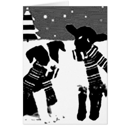Border-Collie-Weihnachtskarte Karte