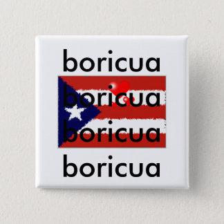 Boricua Liebeknopf Quadratischer Button 5,1 Cm