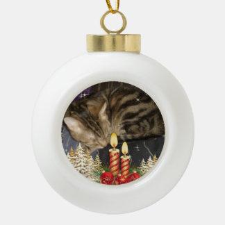 Boris catenov wartete Sankt-Tatzen Keramik Kugel-Ornament
