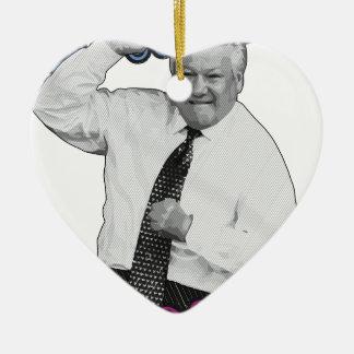Boris Jelzin Tanz-Tanz-heißer Sommer 1996 Keramik Herz-Ornament