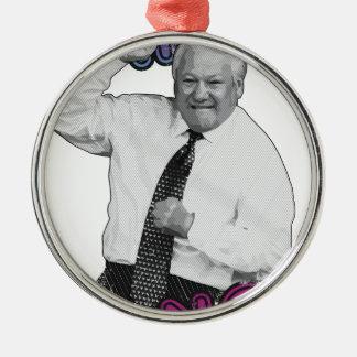 Boris Jelzin Tanz-Tanz-heißer Sommer 1996 Silbernes Ornament