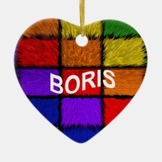 BORIS (männliche Namen) Keramik Herz-Ornament