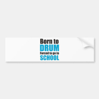 born to drum autoaufkleber