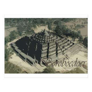 Borobudur Tempel Screnary Postkarte