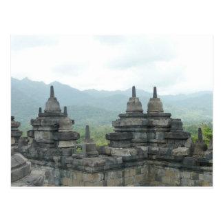 Borobudur Tempel, Yogjakarta Postkarte