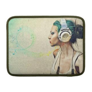"""Börse für MacBook """"Woman music """" Sleeve Fürs MacBook Air"""