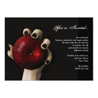Böse Hexe-rotes Apple-Halloween-Party 12,7 X 17,8 Cm Einladungskarte