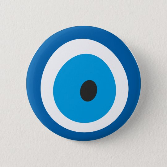 Böser Blick, Nazar, Charme, Glück, Schutz, Runder Button 5,7 Cm