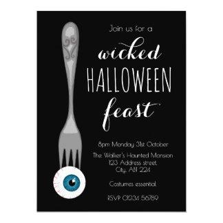 Böses Halloween-Fest-Party Einladungsschwarzes 16,5 X 22,2 Cm Einladungskarte