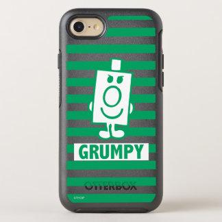 Boshaftes Grinsen Herr-Grumpy | und grüne Streifen OtterBox Symmetry iPhone 8/7 Hülle