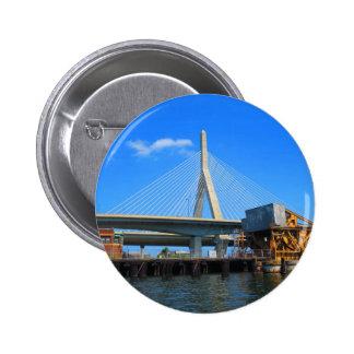 Boston-Brücken-Foto auf Geschenken Runder Button 5,7 Cm
