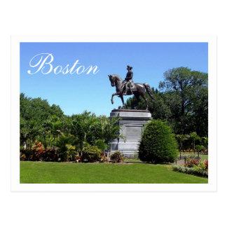 Boston-Gärten, Postkarte Bostons Massachusetts