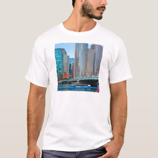 Boston-Stadt städtisches Landcape ragt T-Shirt