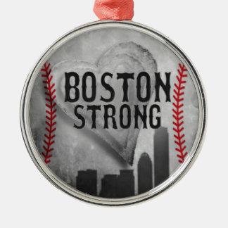 Boston stark durch Vetro Schmuck u. Entwürfe Rundes Silberfarbenes Ornament