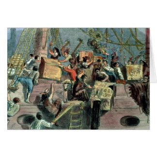 Boston-Tee-Party, am 16. Dezember 1773 Grußkarte