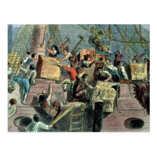Boston-Tee-Party, am 16. Dezember 1773 Postkarten
