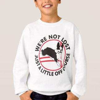 Boston-Terrier-Agility weg vom Kurs Sweatshirt