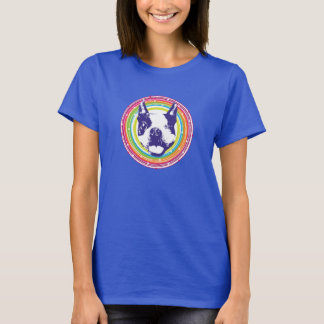 Boston Terrier - bunte Kreise T-Shirt