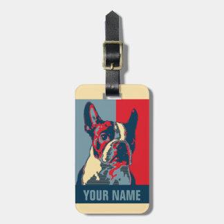 Boston-Terrier-Hoffnung inspiriert Kofferanhänger