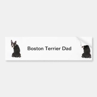 Boston-Terrier-Hundevati-Autoaufkleber