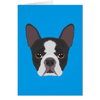 Boston Terrier Karte