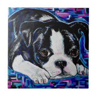 Boston Terrier Keramikfliese