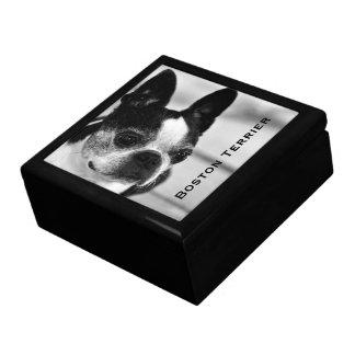 Boston Terrier Schwarzweiss Geschenkbox