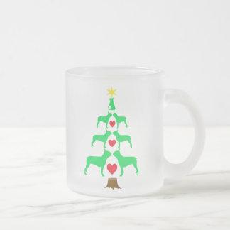 Boston-Terrier-Weihnachtsbaum-Tasse Mattglastasse