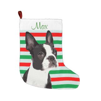Boston-Terrier-Weihnachtshaustier-Strumpf Großer Weihnachtsstrumpf