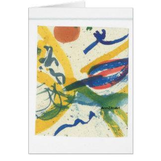 """""""Botanik-Symbole"""", ist ein Druck meiner Malerei Karte"""