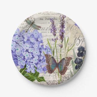 Botanisch Pappteller 17,8 Cm