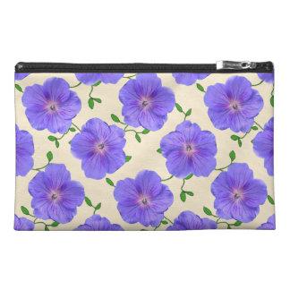 Botanische blaue Pelargonie-Blume Reisekulturtasche