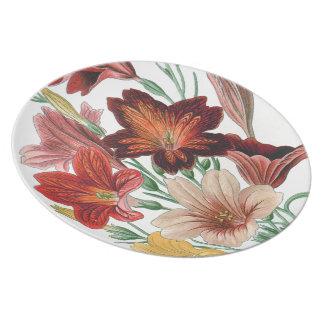Botanische Blumen-Blumenplatte Melaminteller
