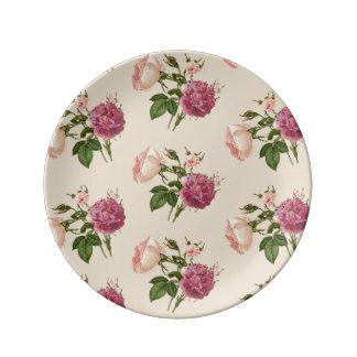 Botanische dekorative Porzellan-mit Blumenplatte Porzellanteller