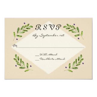 Botanische Entwurf UAWG Warteantwort-Hochzeit 8,9 X 12,7 Cm Einladungskarte