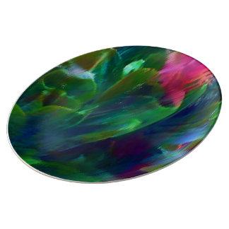 Botanische Malerei-dekorative Porzellan-Platte Teller Aus Porzellan