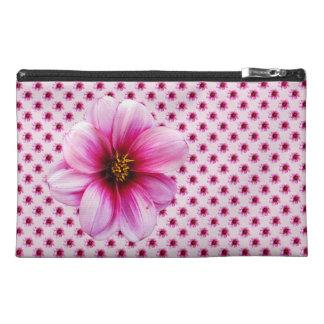 Botanische rosa Dahlie-Blume Reisekulturtasche