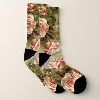 Botanische rosa Kohl-Rosen-Blumen-Socken Socken