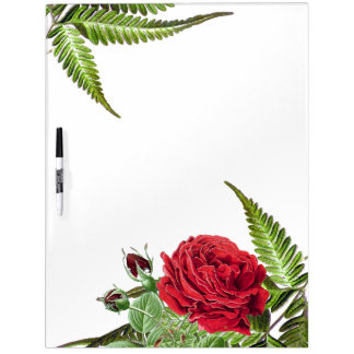 Botanische Rosen-Blumen-Farne trocknen Memoboard