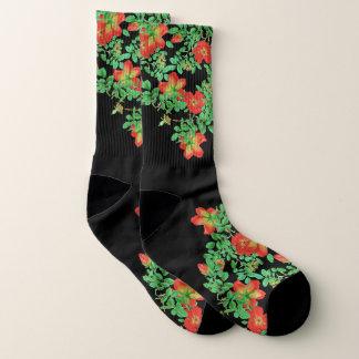 Botanische Rotkohl-Rosen-Blumen-Socken Socken