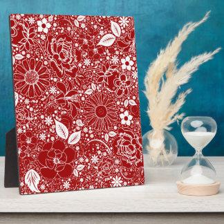 Botanische Schönheits-rote Tischplattenplakette Fotoplatte