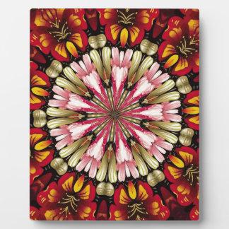 Botanische Traum-Mandala Fotoplatte