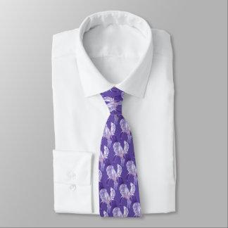 Botanische ultraviolette Hochzeits-mit Individuelle Krawatten