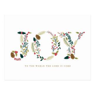 Botanischer Freude-Weihnachtsgruß Postkarte