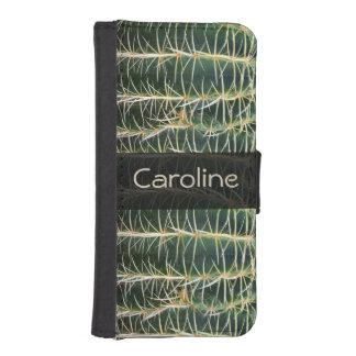 Botanischer grüner Bereich-Kaktus irgendein Name iPhone SE/5/5s Geldbeutel Hülle