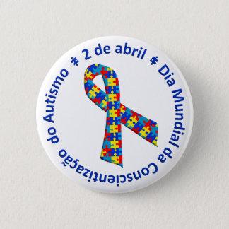 Bóton Conscientização des Autismus Runder Button 5,7 Cm