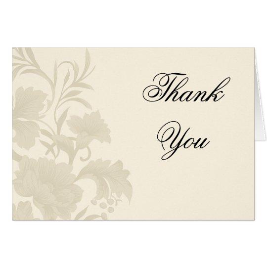 Botschafts-Blumencreme danken Ihnen Notecards Karte