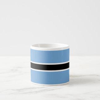 Botswana-Flagge Espressotasse