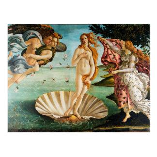 BOTTICELLI - Die Geburt von Venus 1483 Postkarte