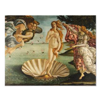 Botticelli die Geburt von Venus-Einladungen 10,8 X 14 Cm Einladungskarte